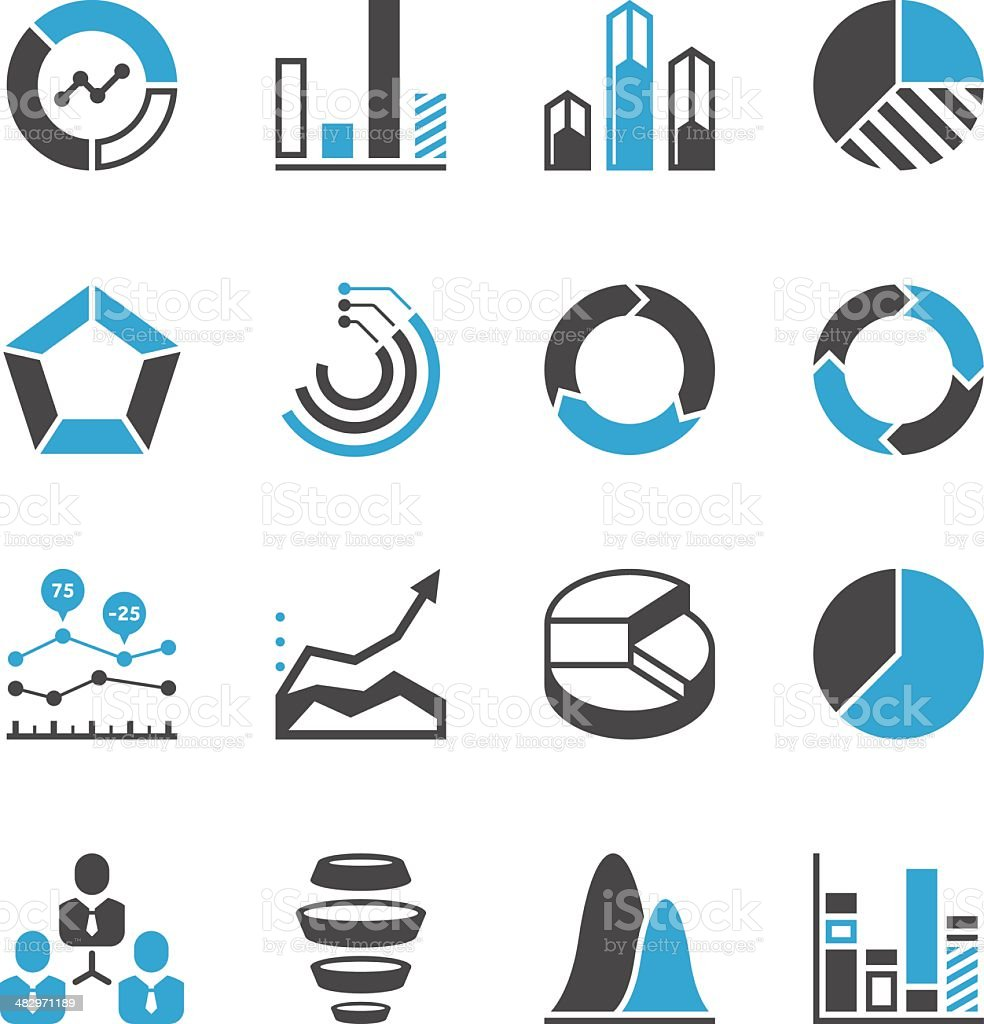 Chart & Graph Icon Set | Concise Series royalty-free stock vector art