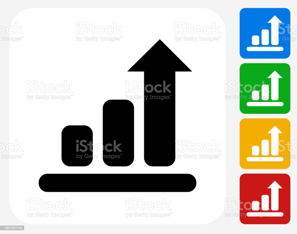 Chart Icon Flat Graphic Design vector art illustration