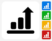 Chart Icon Flat Graphic Design