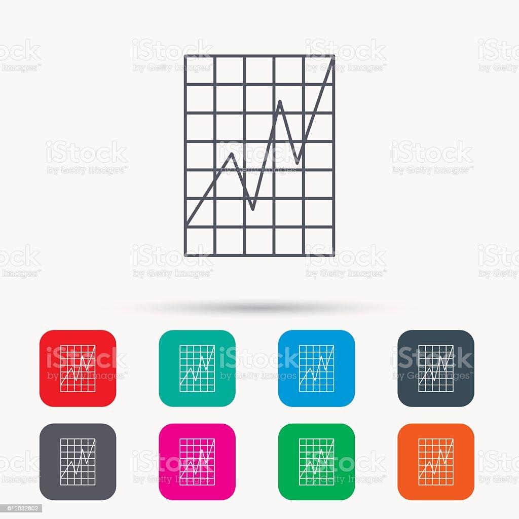 Chart icon. Graph diagram sign. vector art illustration