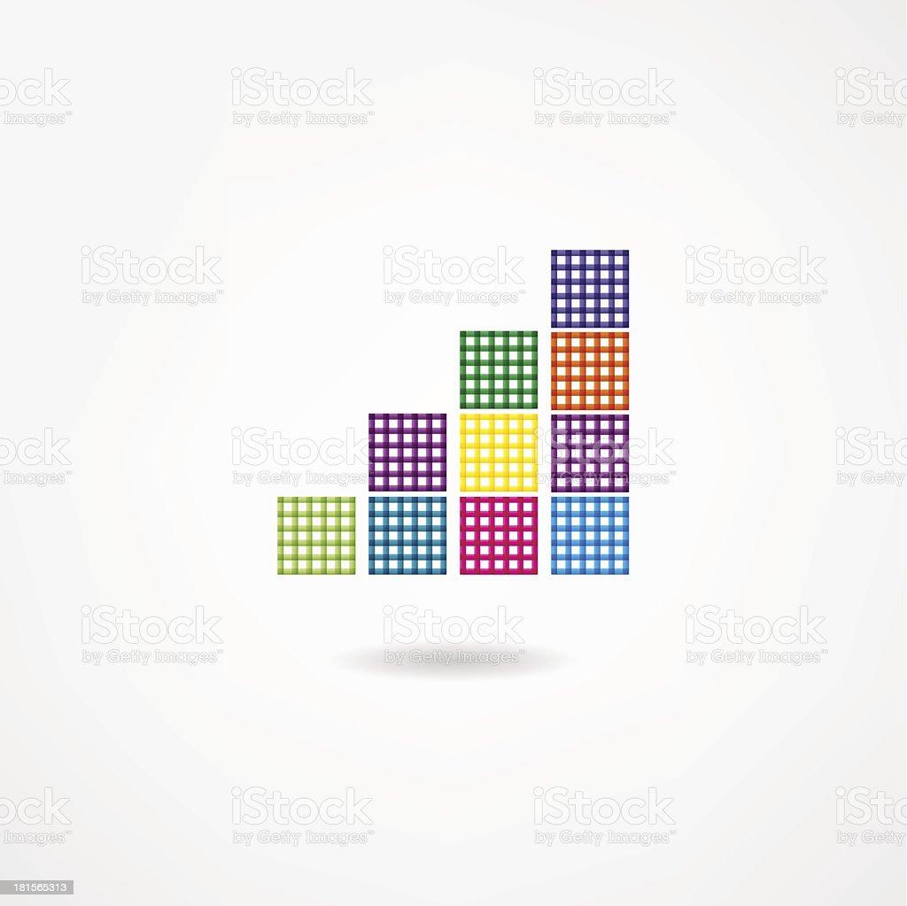 Chart icon royalty-free stock vector art