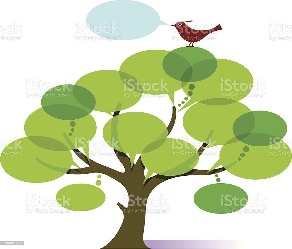 Chart tree royalty-free stock vector art
