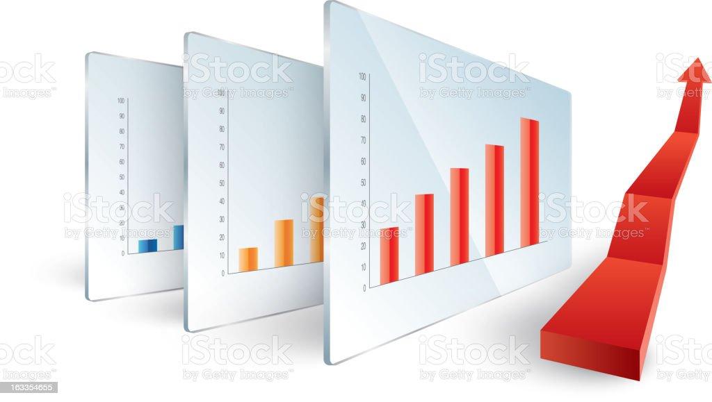 Chart royalty-free stock vector art