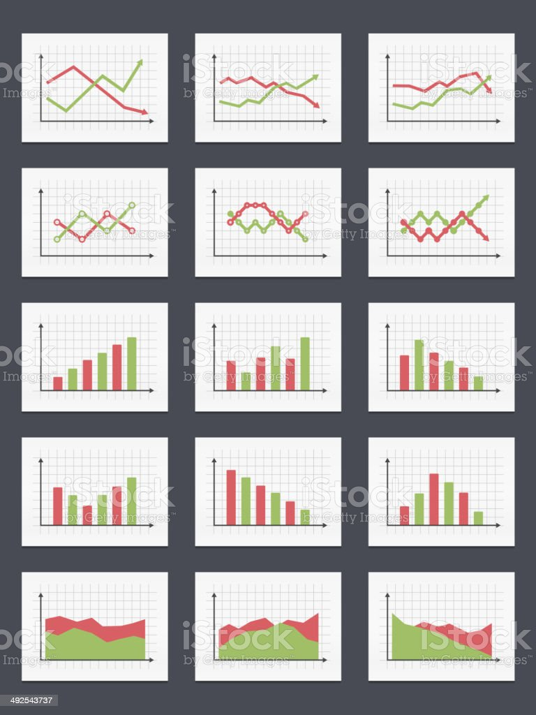 Charts vector art illustration