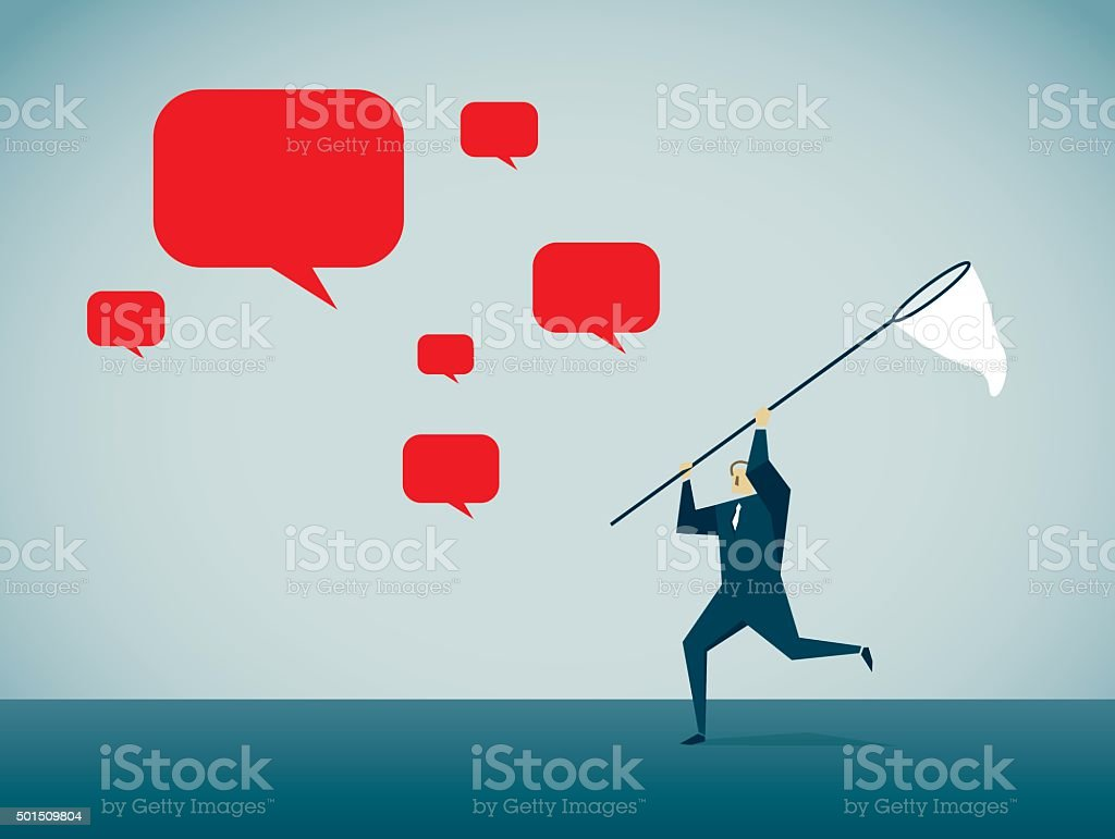 Chasing vector art illustration