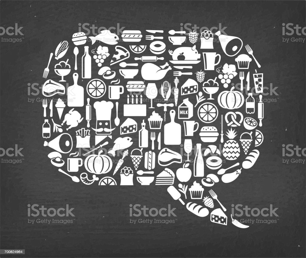 Chat bubble Food & Drink royalty free vector icon pattern vector art illustration