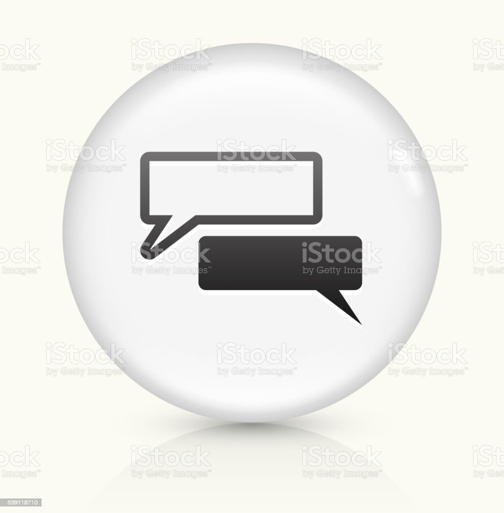 Chat bubbles icon on white round vector button vector art illustration