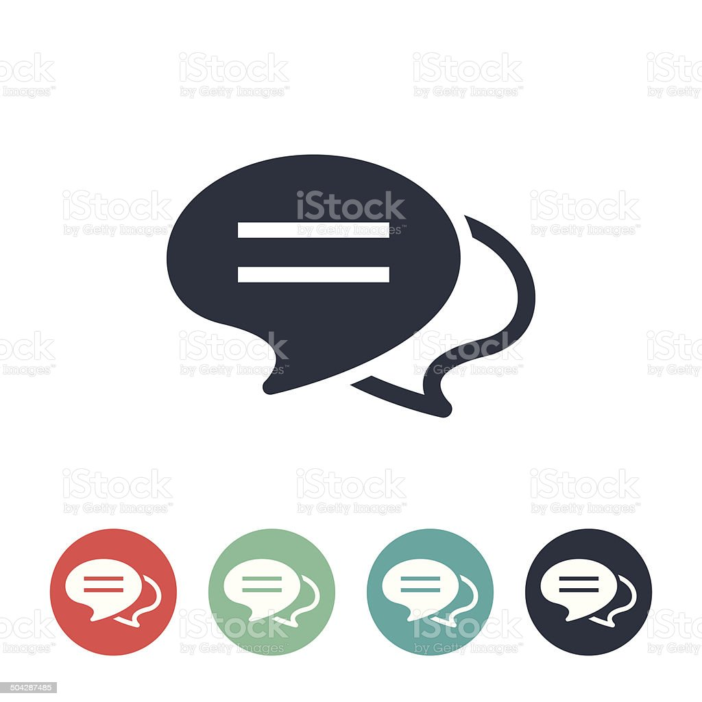 Chat Bubbles Icon vector art illustration
