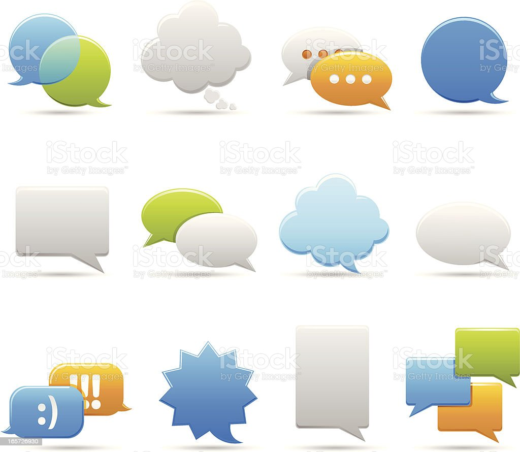 Chat Bubbles vector art illustration