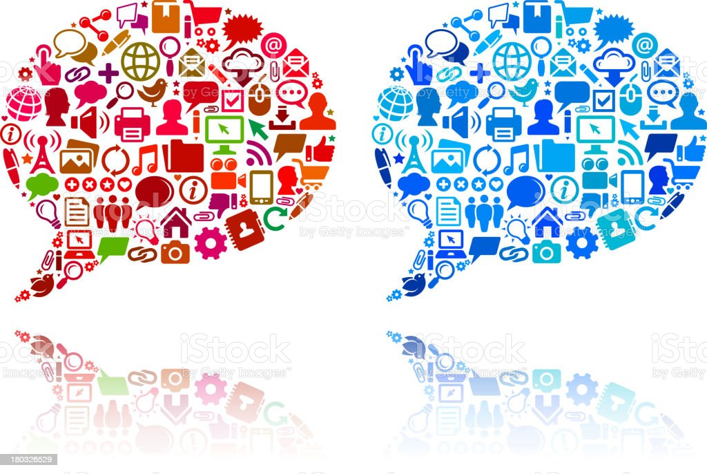 Chat Bubbles with Internet & Communication royalty free vector arts royalty-free stock vector art
