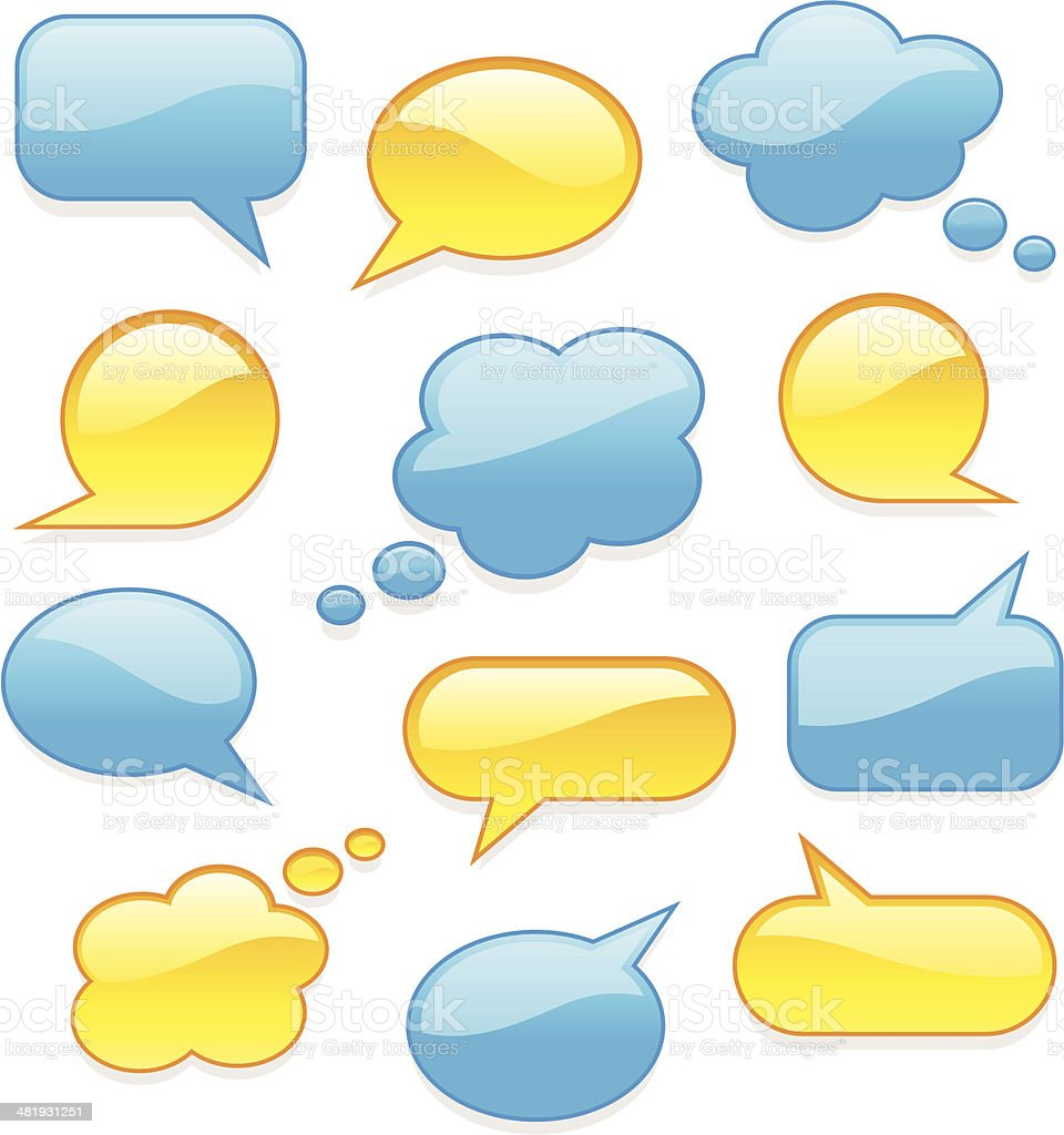 Chat buttons vector art illustration
