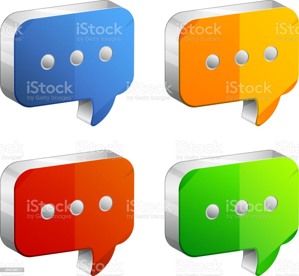 Chat Icon royalty-free stock vector art