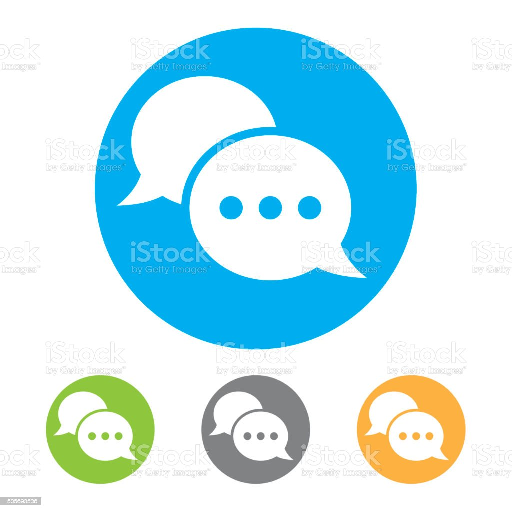 Chat icon. vector vector art illustration