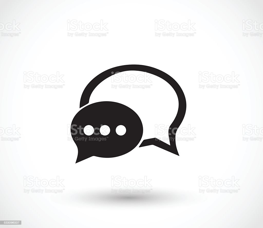 Chat icon with dialog clouds vector illustration vector art illustration