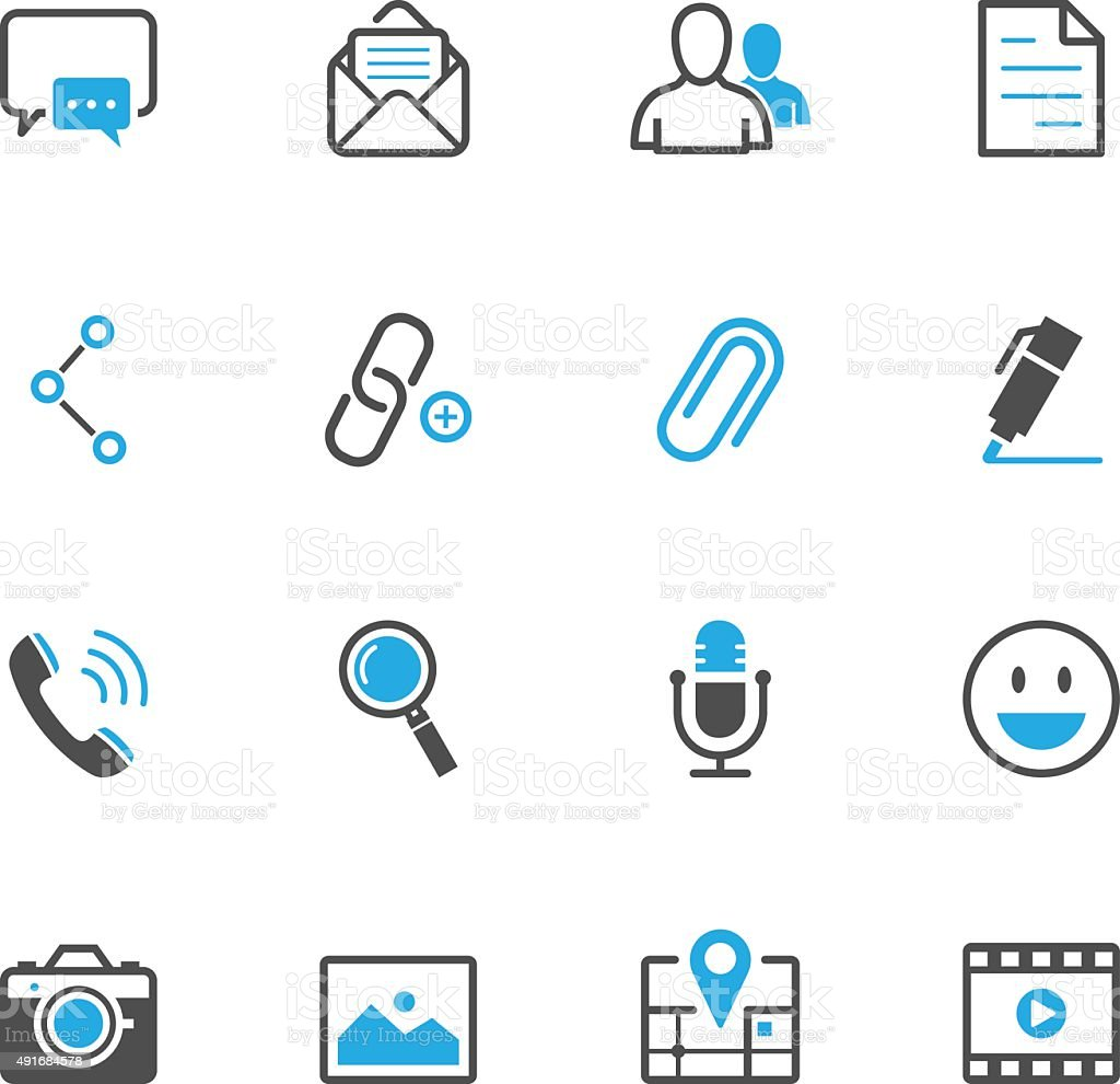 Chat Icons for Application vector art illustration