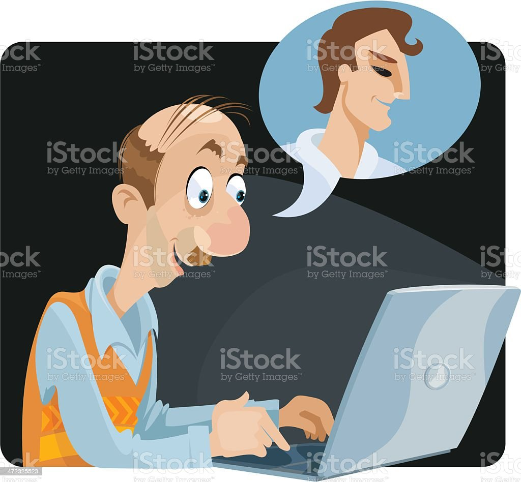 Chat Room Fantasy royalty-free stock vector art