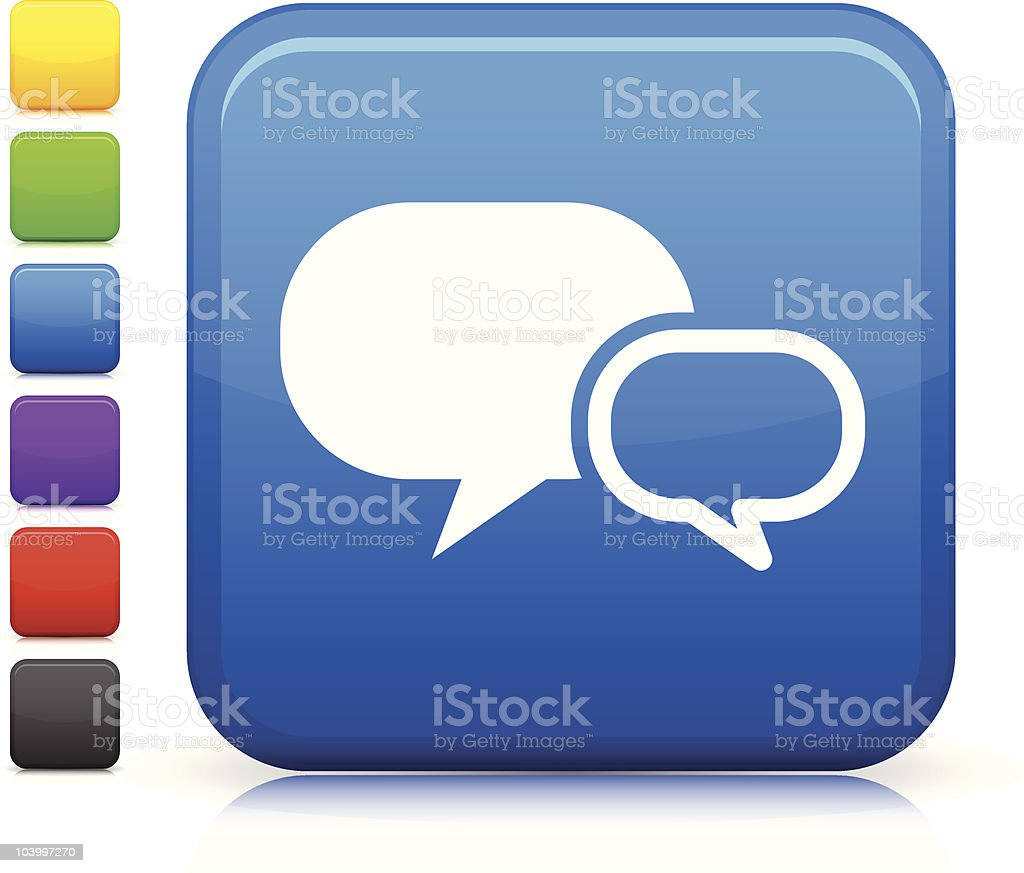 chat room square internet button icon royalty-free stock vector art