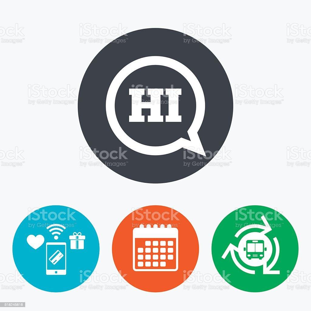 Chat sign icon. Speech bubble symbol. vector art illustration