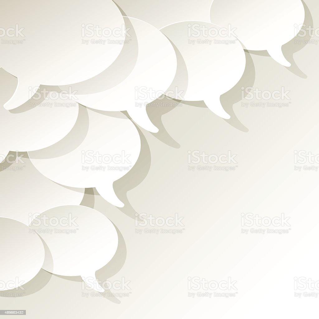 Chat speech bubbles ellipse vector white in the corner. vector art illustration