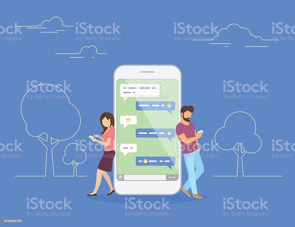 Chat talk concept illustration vector art illustration