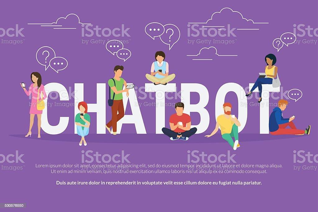 Chatbot concept illustration vector art illustration