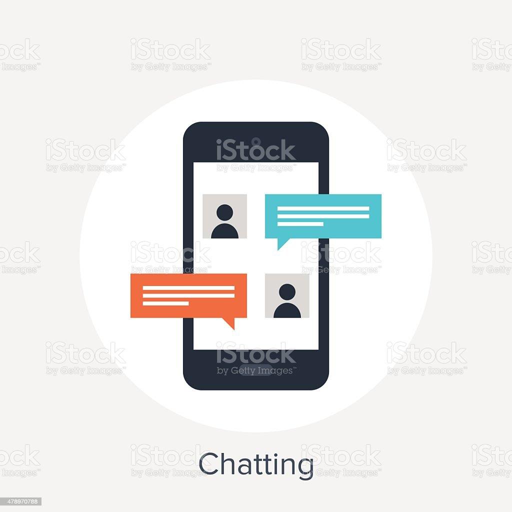 Chatting vector art illustration