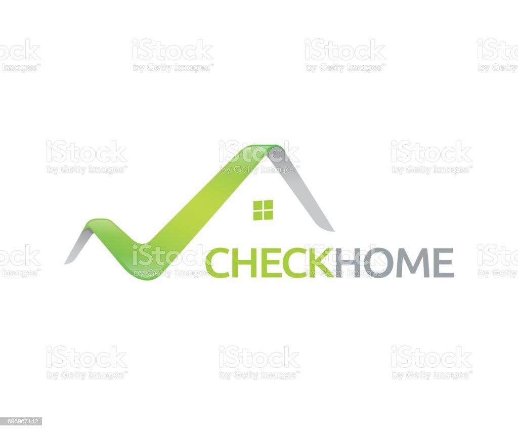 Check home vector icon - Illustration vector art illustration