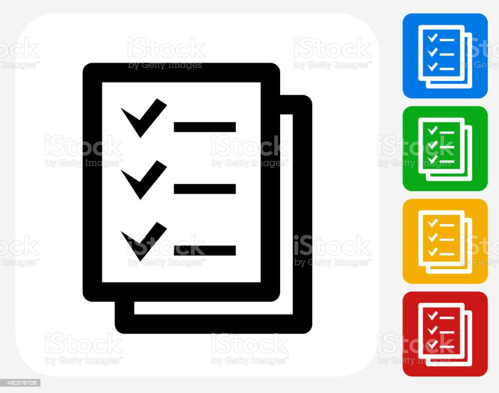 Check List Icon Flat Graphic Design vector art illustration