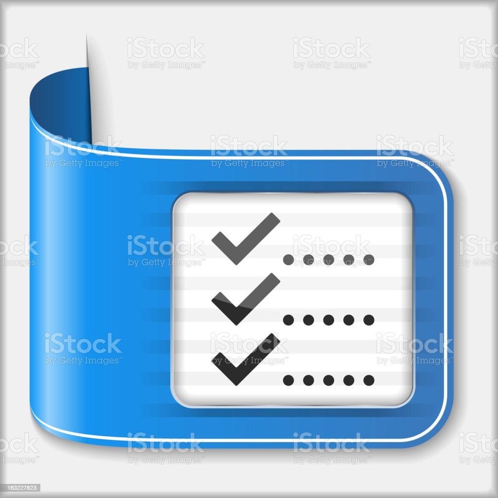 Check List Icon royalty-free stock vector art