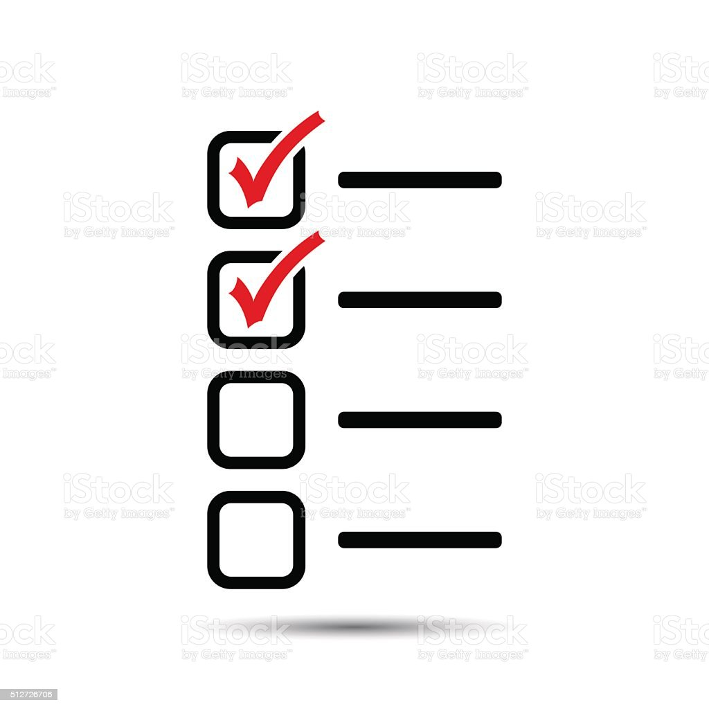 Check List Icon vector art illustration