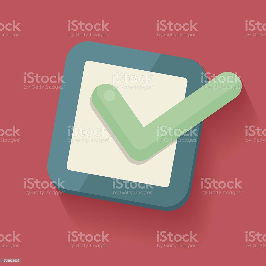 Check list symbol,clean vector vector art illustration