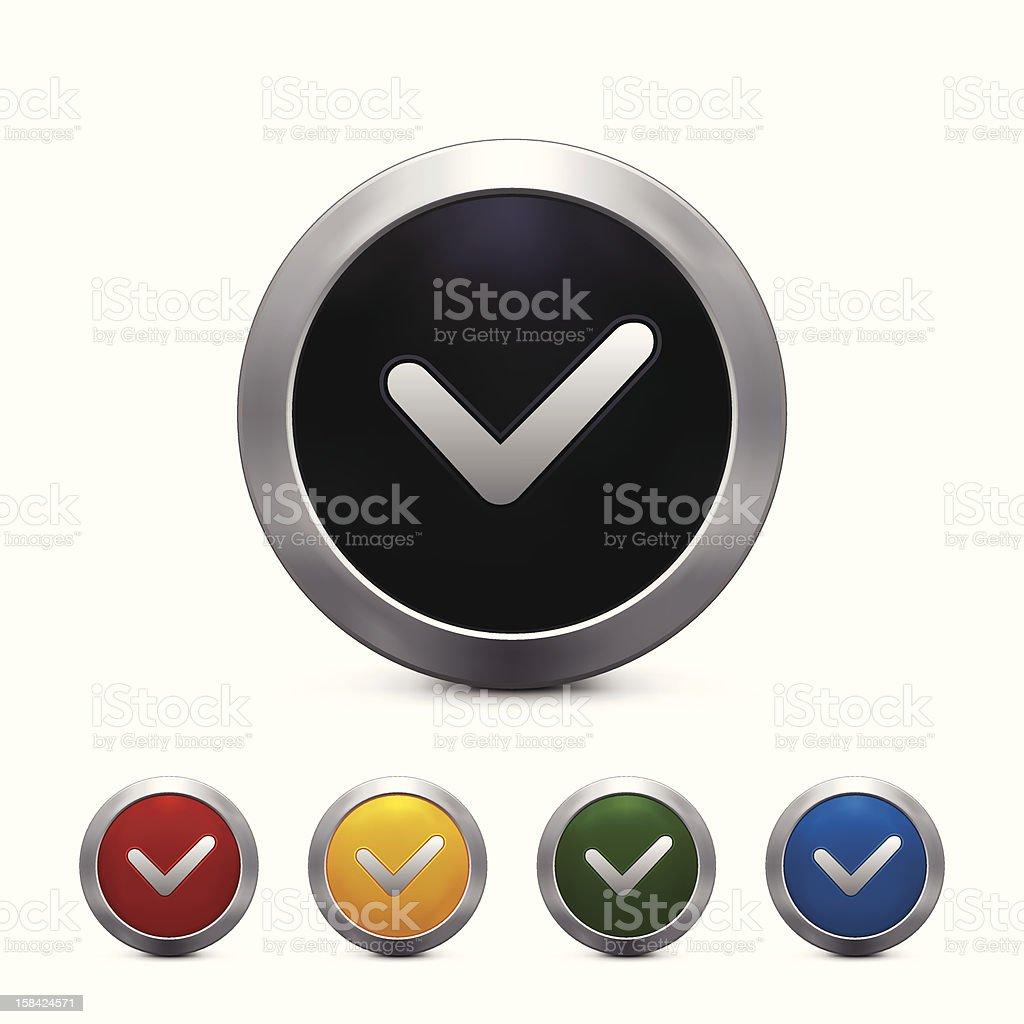 Check Mark Button royalty-free stock vector art