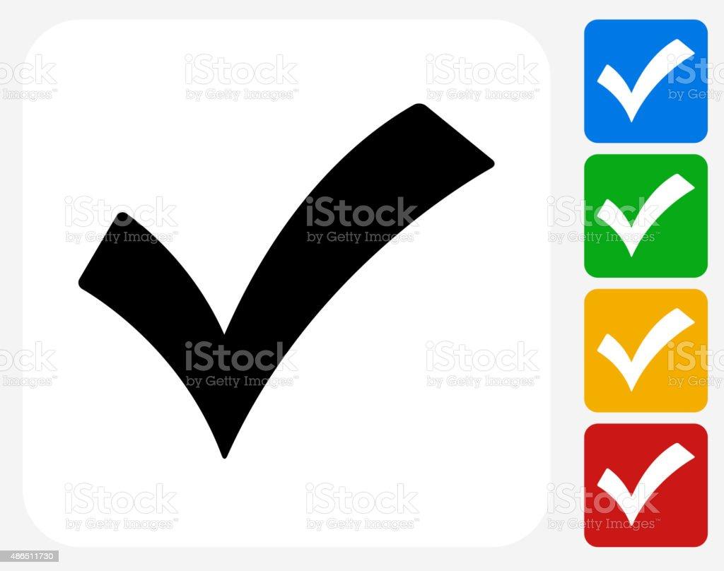 Check Mark Icon Flat Graphic Design vector art illustration