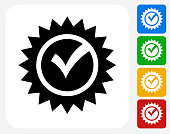 Check Mark Icon Flat Graphic Design