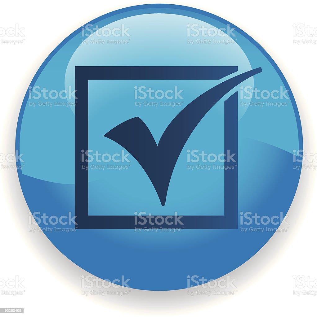 Check Mark Icon royalty-free stock vector art