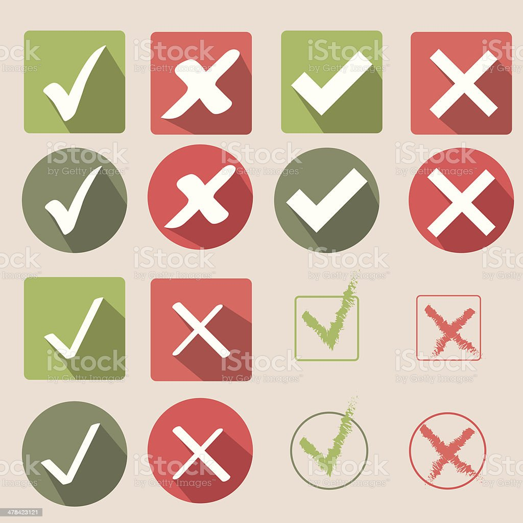 Check mark icons vector art illustration