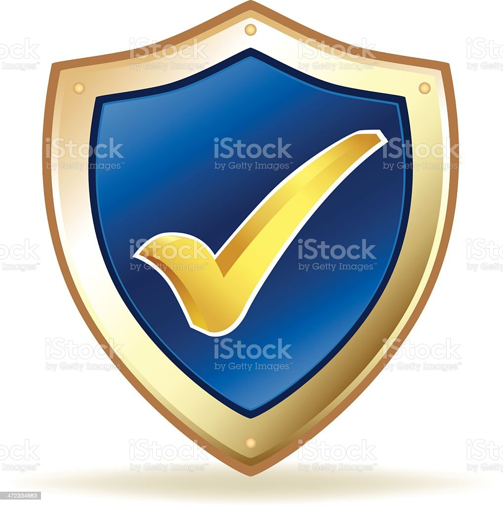 Check Mark Shield royalty-free stock vector art