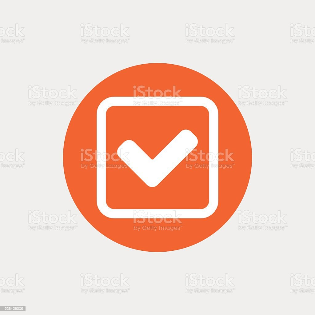 Check Mark Sign Icon Yes Square Symbol Stock Vector Art 528428006