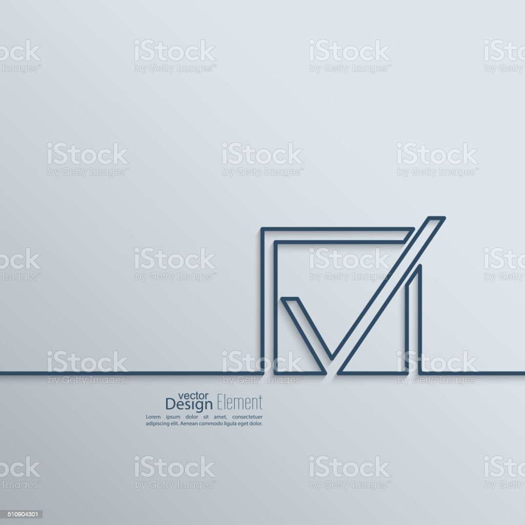 Check mark symbol vector art illustration