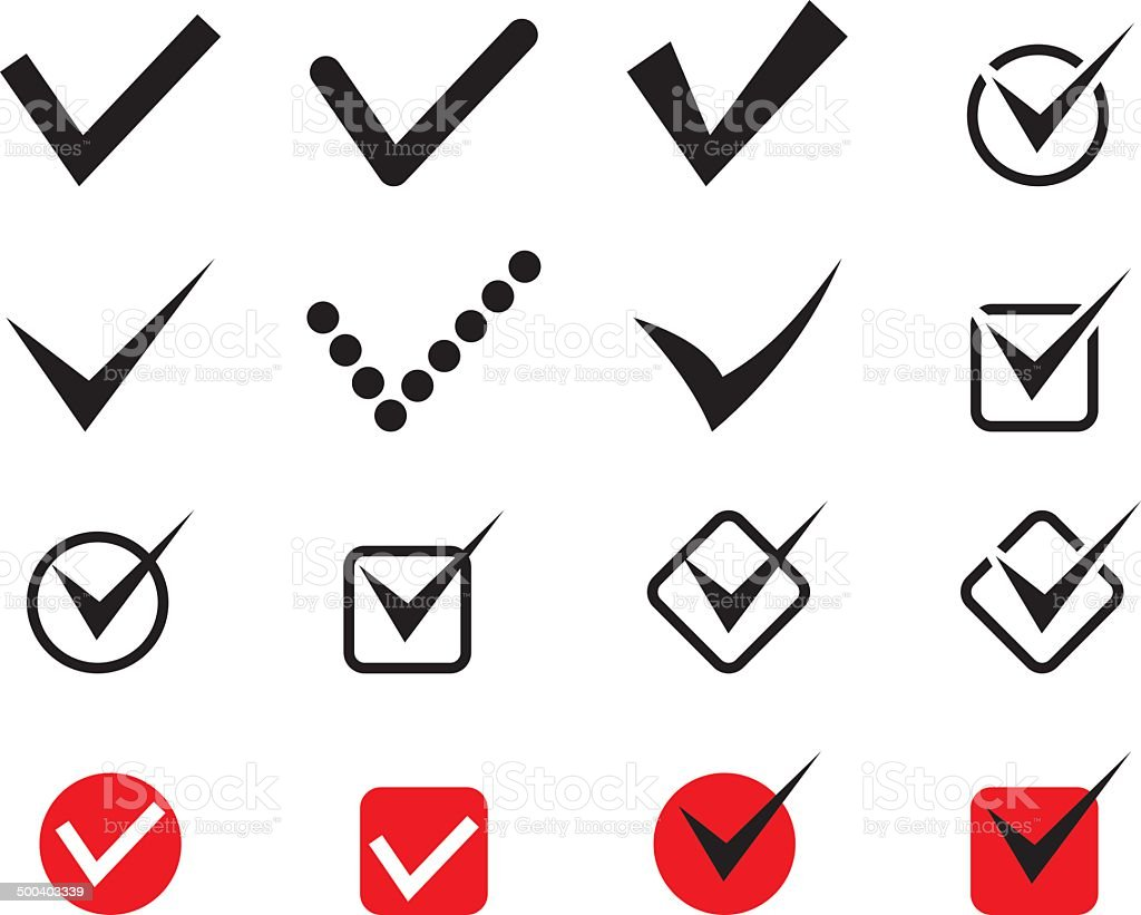 check mark royalty-free stock vector art