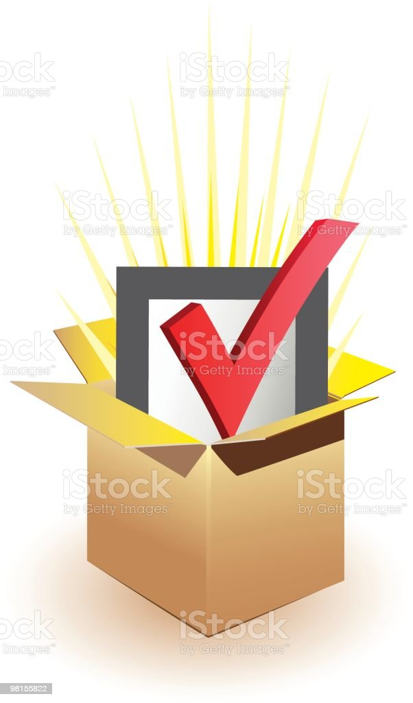 Check Mark with Box royalty-free stock vector art