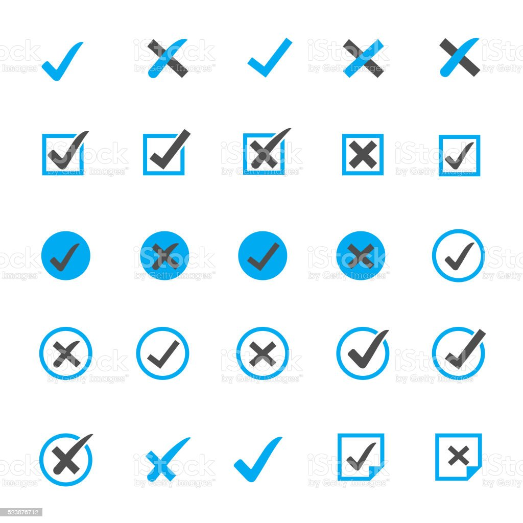 Check Marks Icon Sets vector art illustration