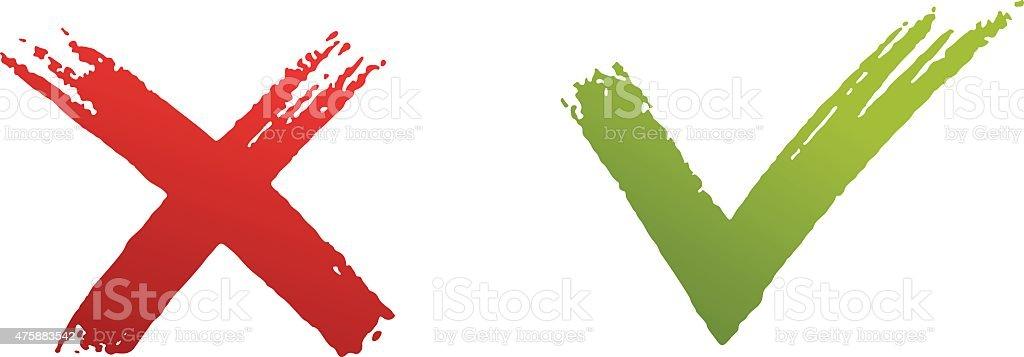 Check marks vector art illustration