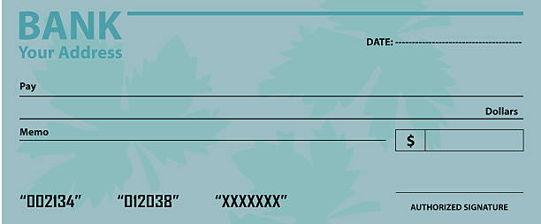 Background Of A Fake Blank Check Template Clip Art Vector Images – Check Template