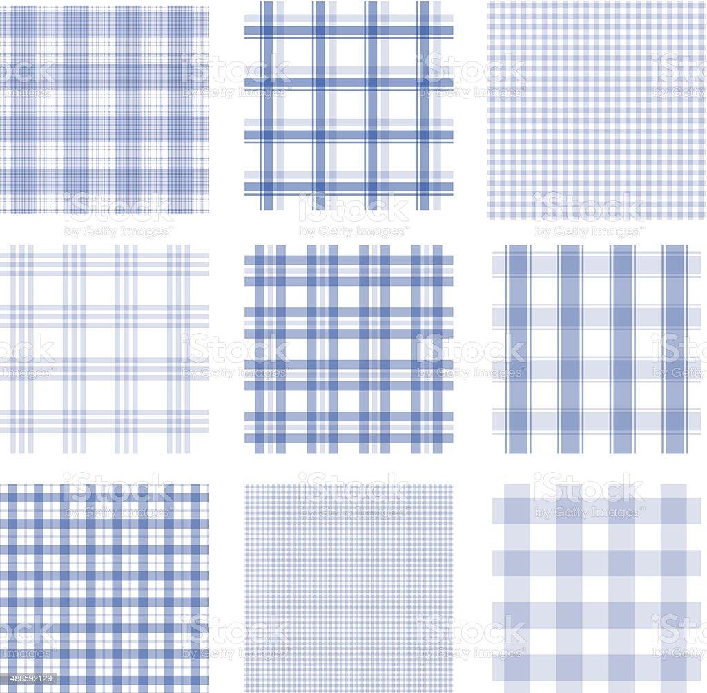 Checked seamless pattern vector art illustration