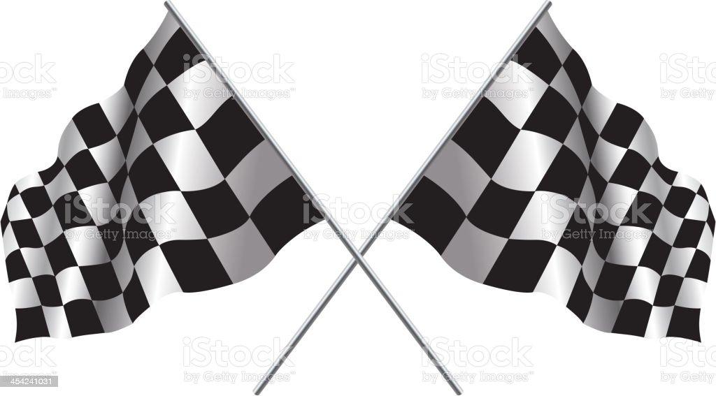Checker flag vector art illustration
