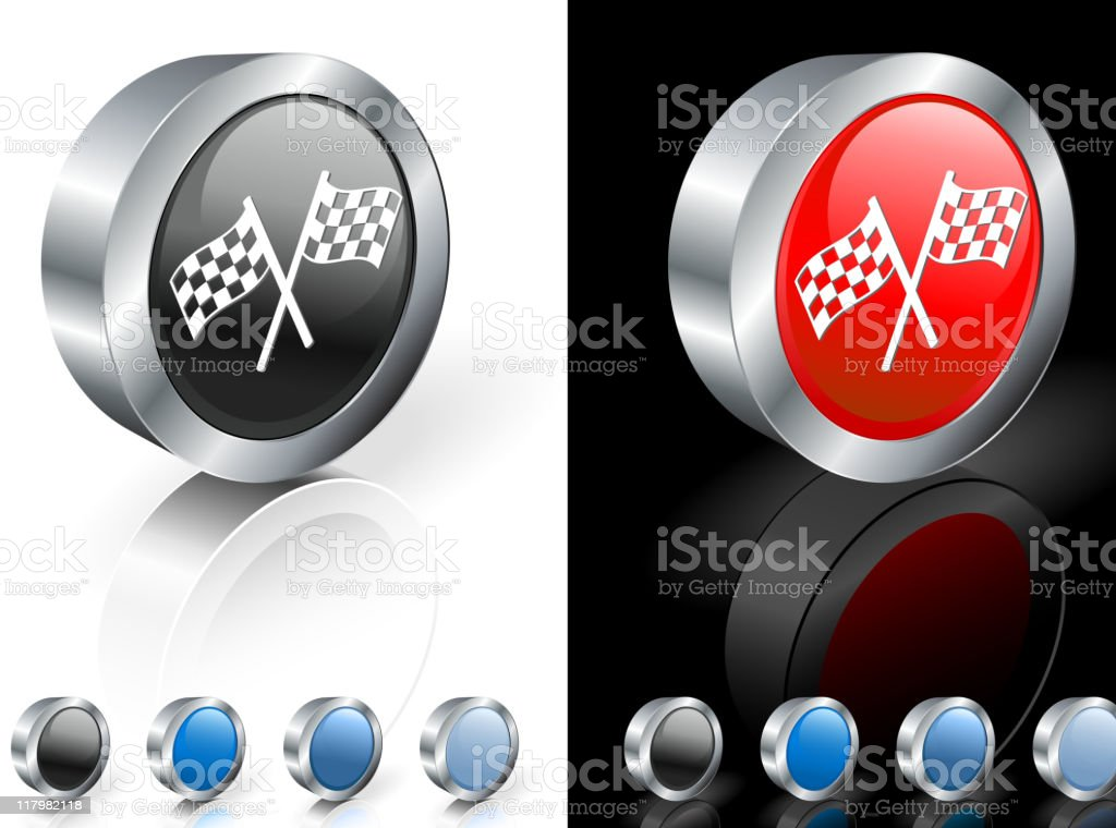 checker flags 3D royalty free vector art royalty-free stock vector art