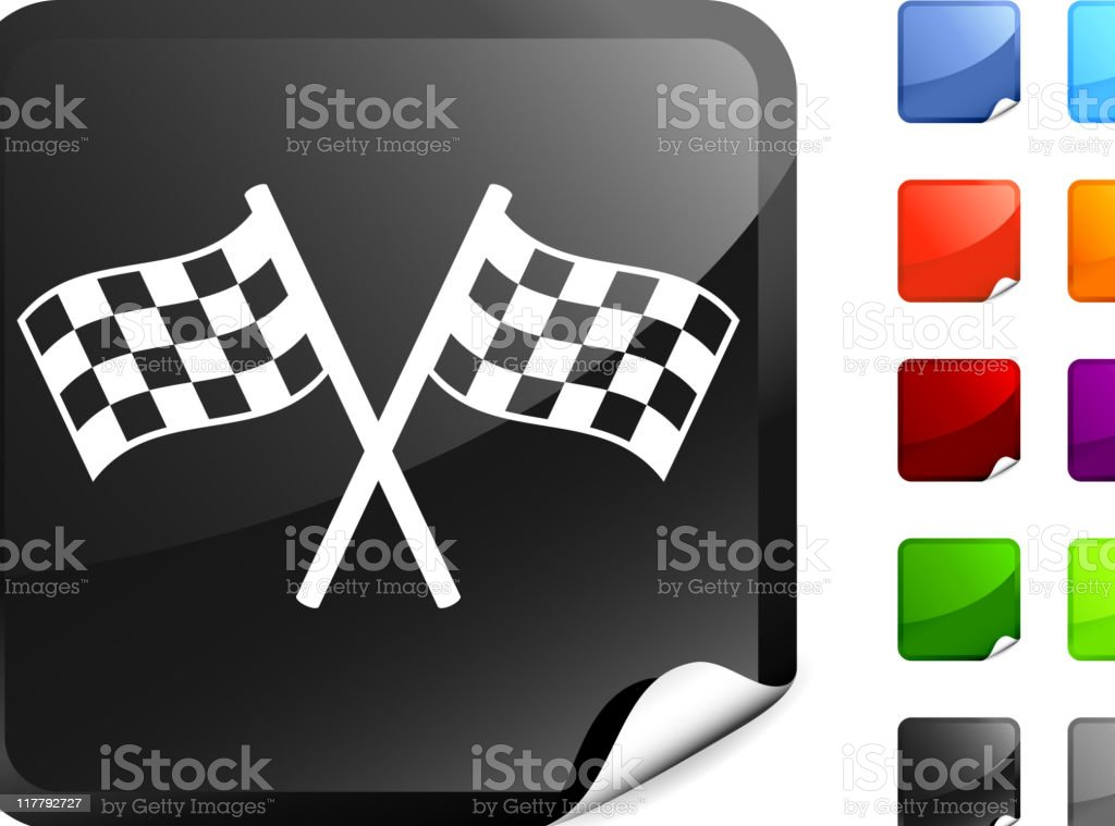 checker flags internet royalty free vector art vector art illustration