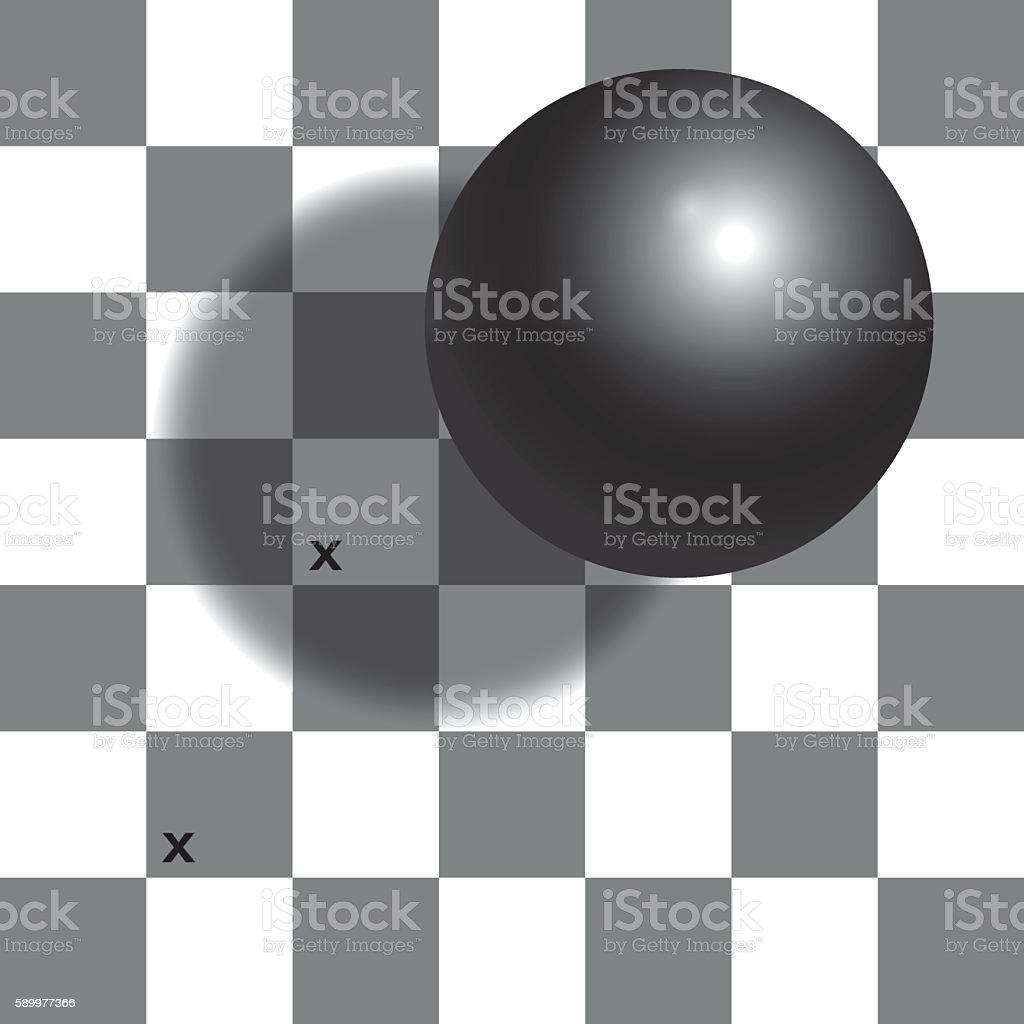 Checker Shadow Illusion Chessboard vector art illustration