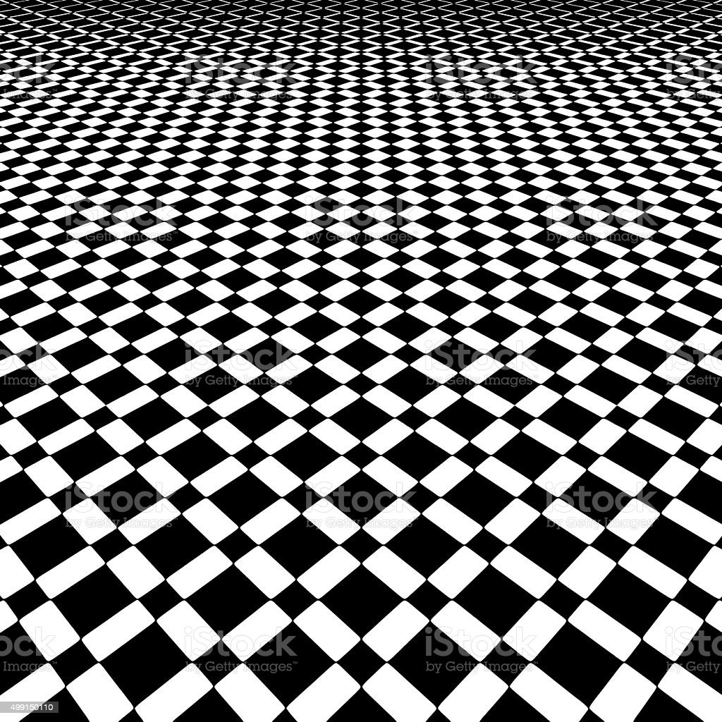 Checkered Background Pattern with Dramatic Perspective vector art illustration